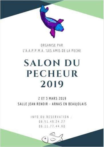 Salon de la pêche 2019 à Arnas en Beaujolais les 2 et 3 mars 2019